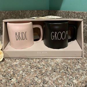 Rae Dunn Wedding set Bride and Groom mugs